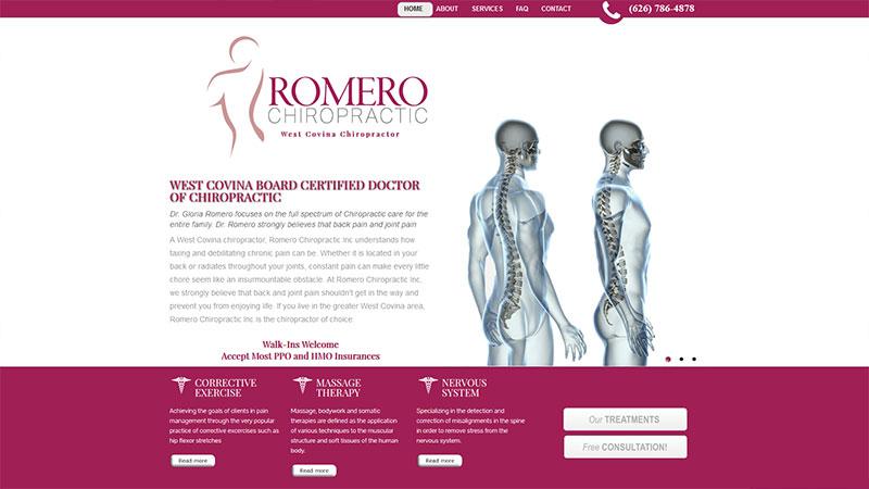 Romero Chiropractic Inc
