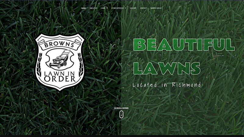 BROWNS LAWN IN ORDER