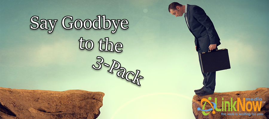 say goodbye to the 3-pack banner