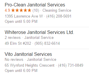 Reviews of cleaning companies